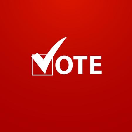 투표 기호 벡터 디자인