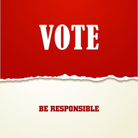 electing: Voting Symbols vector design