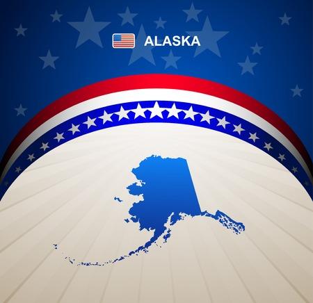 Alaska map vector background Vector