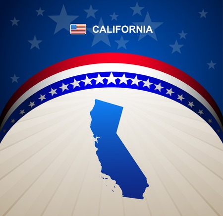 California map vector background Vector