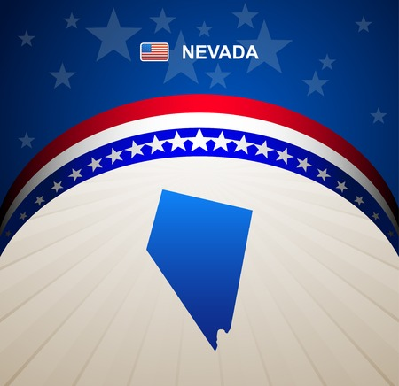 nevada: Nevada map vector background