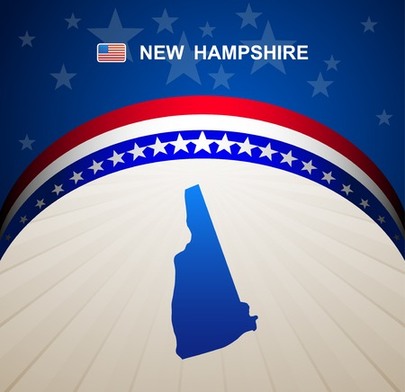 New Hampshire map vector background Vector