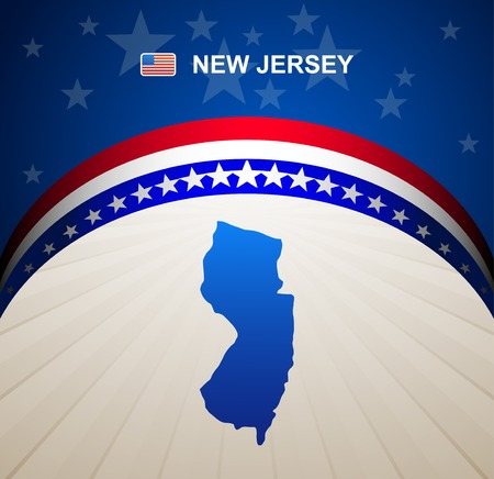 new jersey: New Jersey map vector background