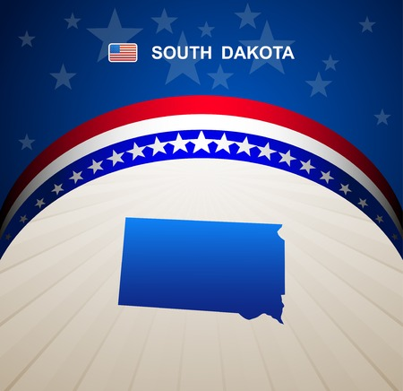 dakota: South Dakota map vector background