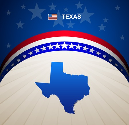 maps globes and flags: Texas map vector background Illustration