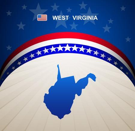 virginia: West Virginia map vector background