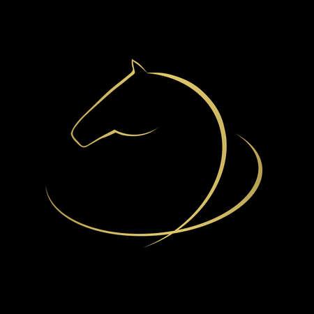 arabian horse: Horse symbol vector