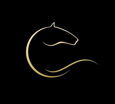 horse harness: Horse symbol vector