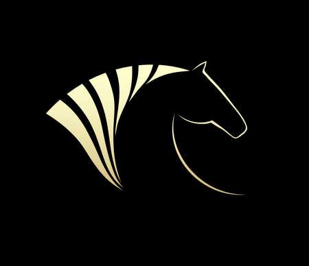 carreras de caballos: Caballo símbolo vector. Símbolo Abstact. Icono Corporativa.
