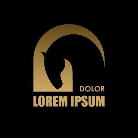 Horse symbol vector. Abstact symbol. Corporate icon. Banco de Imagens - 39154680