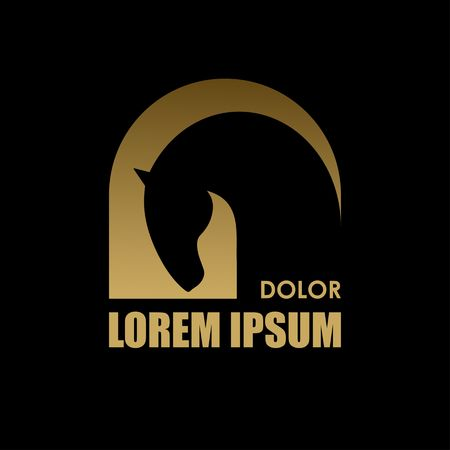 arabian horse: Horse symbol vector. Abstact symbol. Corporate icon.