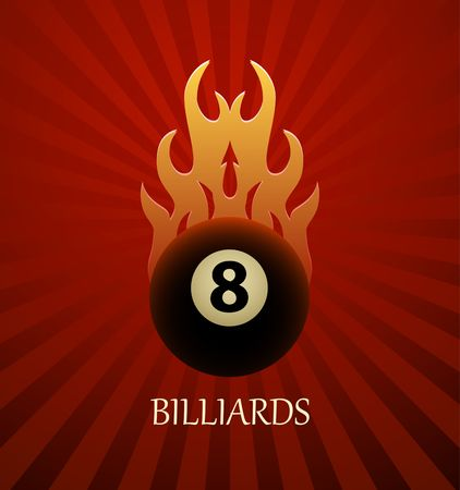 Billiards symbol vector sign Stock Illustratie