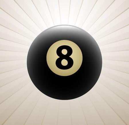 billiards: Billiards symbol vector sign Illustration