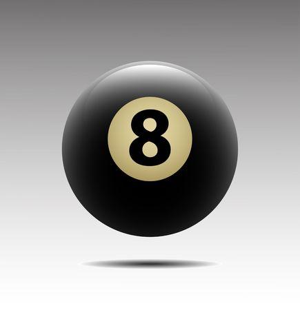 8 ball billiards: Billiards symbol vector sign Illustration
