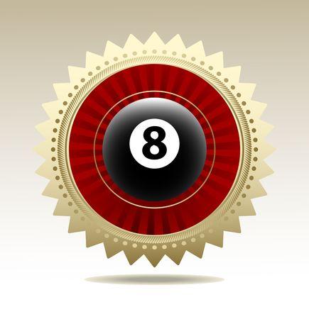 symbol vector: Billiards symbol vector sign Illustration