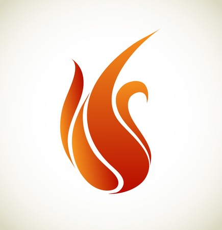 Symbols fire on white background vector