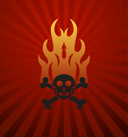 orange inferno: Symbols red fire on red background vector