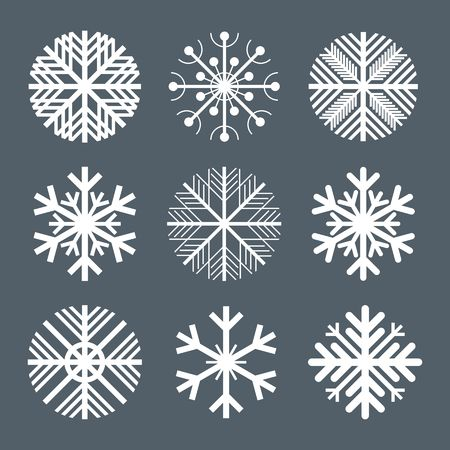 snow crystals: Collection of snowflakes