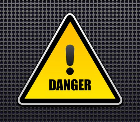 electricity danger of death: Danger sign vector Illustration