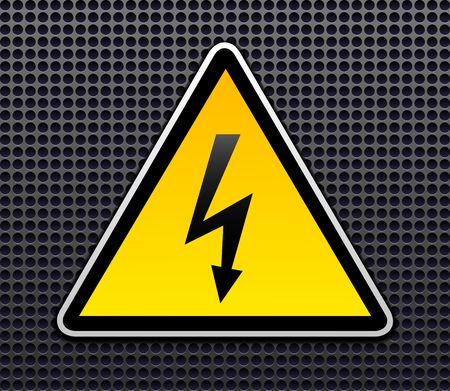 voltage sign: Danger sign vector Illustration