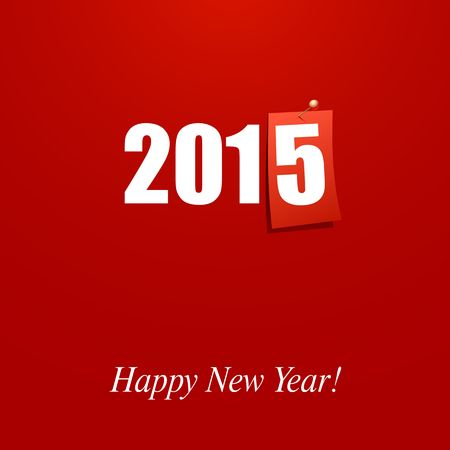 Happy New Year 2015 design card vector