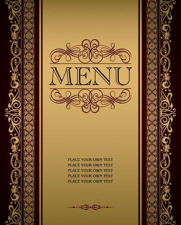 meny: Menu cover vector design Illustration