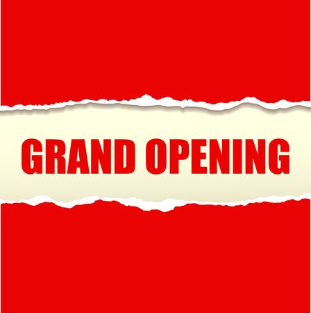 Grand opening banner vector