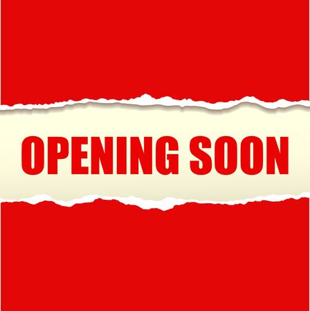 Opening soon banner vector