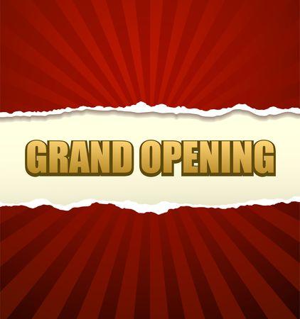 Feierliche Eröffnung banner vector Vektorgrafik