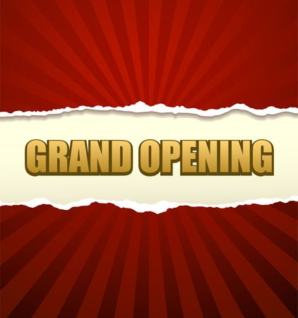 grand sale: Grand opening banner vector