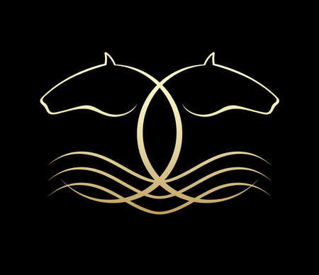 abstract animal: Horse symbolic logo element, vector