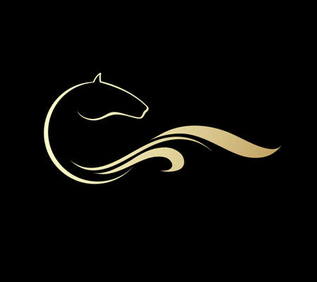 paddock: Horse symbolic logo element, vector icon