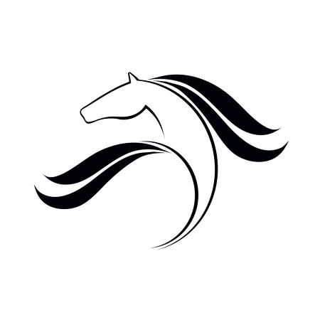 Paard logo element, vector icoon, sport symbolisch