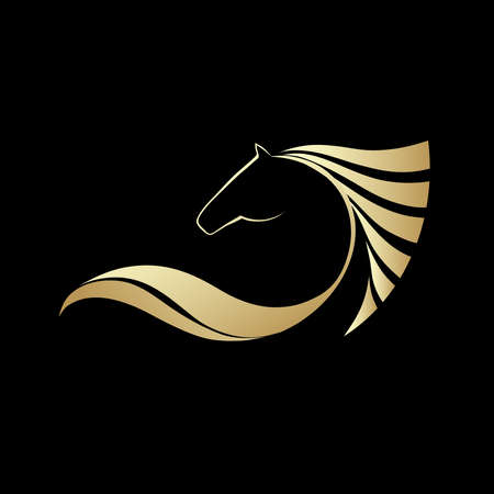paddock: Symbolic image horse, icon design, logo and emblem sporting events, vector illustration Illustration