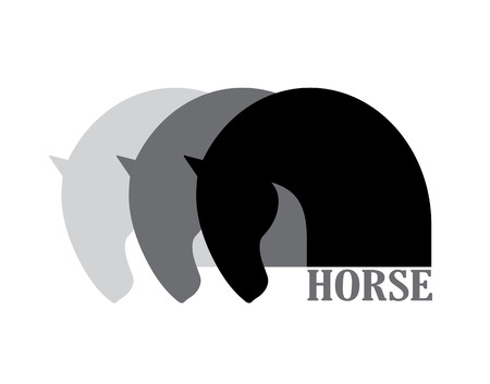 Horse head symbol logo element, vector icon
