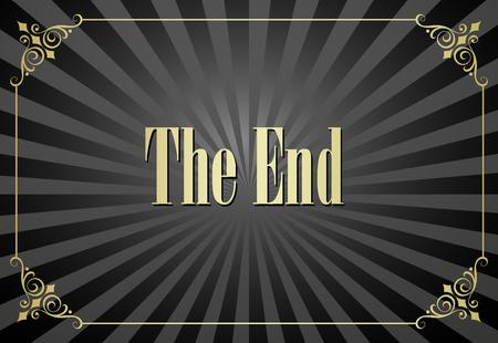 Movie eindigend scherm videobeeld Vector Illustratie