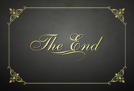 ending: Movie ending vector screen