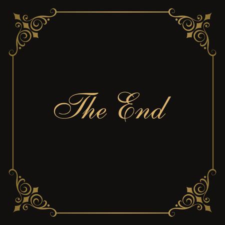 silent: Movie ending vector screen