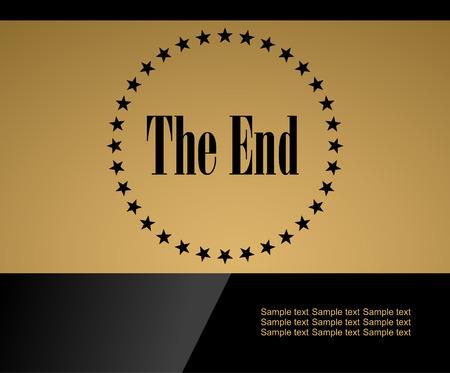 movie screen: Movie ending vector gold screen