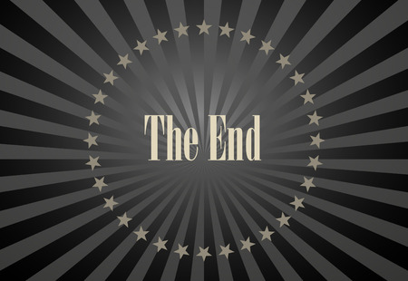 40s: Movie ending vector screen
