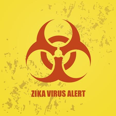 repellent: vector warning sign Zika virus alert