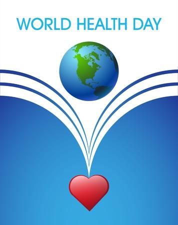heart month: concept illustration World Health day Illustration