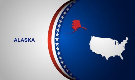 alaska: Alaska map vector background Illustration