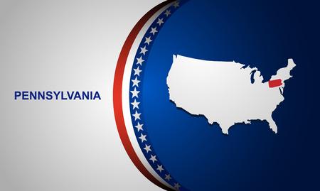pennsylvania: Pennsylvania map vector background