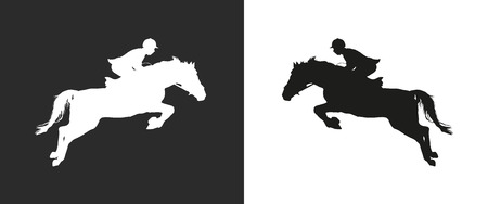 carrying out: Carrying out horse with horseman vector
