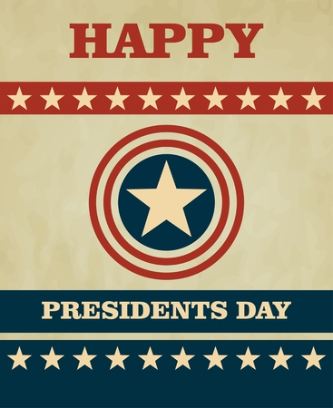 president's: retro illustration Happy Presidents Day