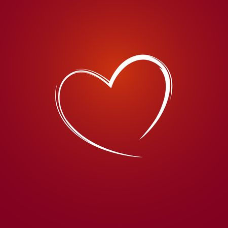 Heart on red background