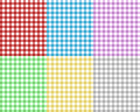 picnic tablecloth: checkered picnic tablecloth, abstract background Illustration
