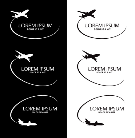 airplane travel: symbol airplane logo travel tourism design vector Illustration