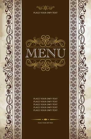 menu design: Menu cover vector design Illustration